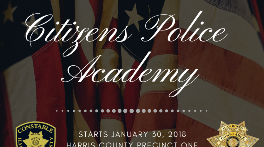 Precinct One Constable's Office accepting applications for 1st Citizens Police Academy